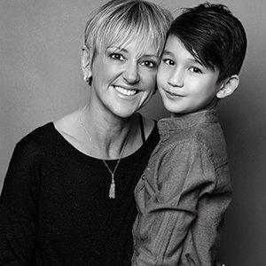 mother and son photo at Nottingham portrait studio