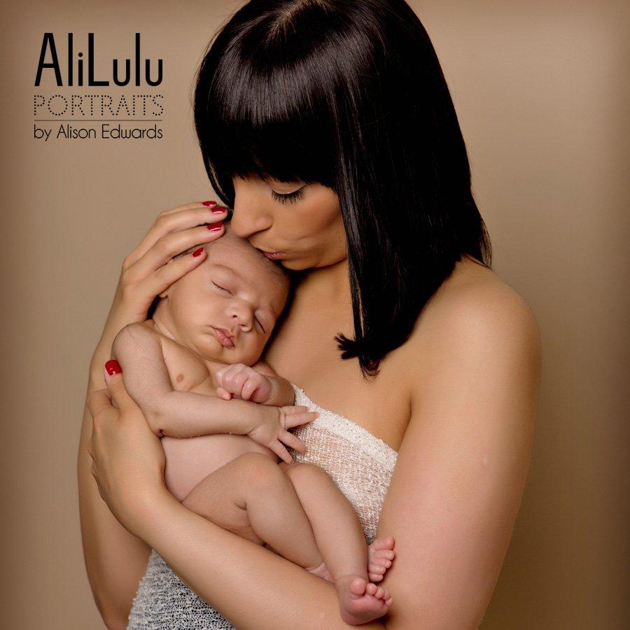 newborn baby and mum