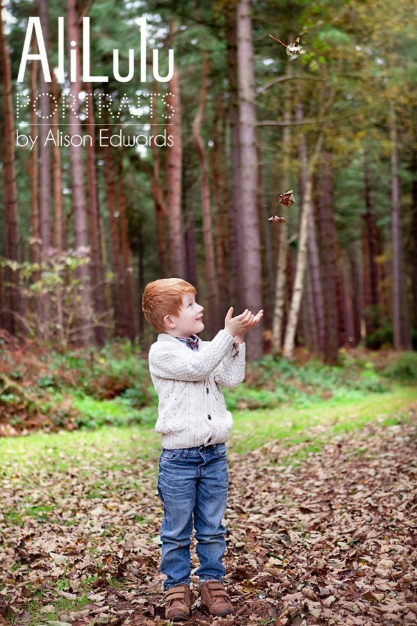 kids lifestyle portraits in autumn