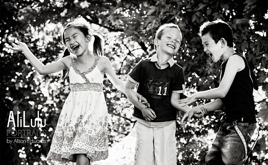 children laughing photo