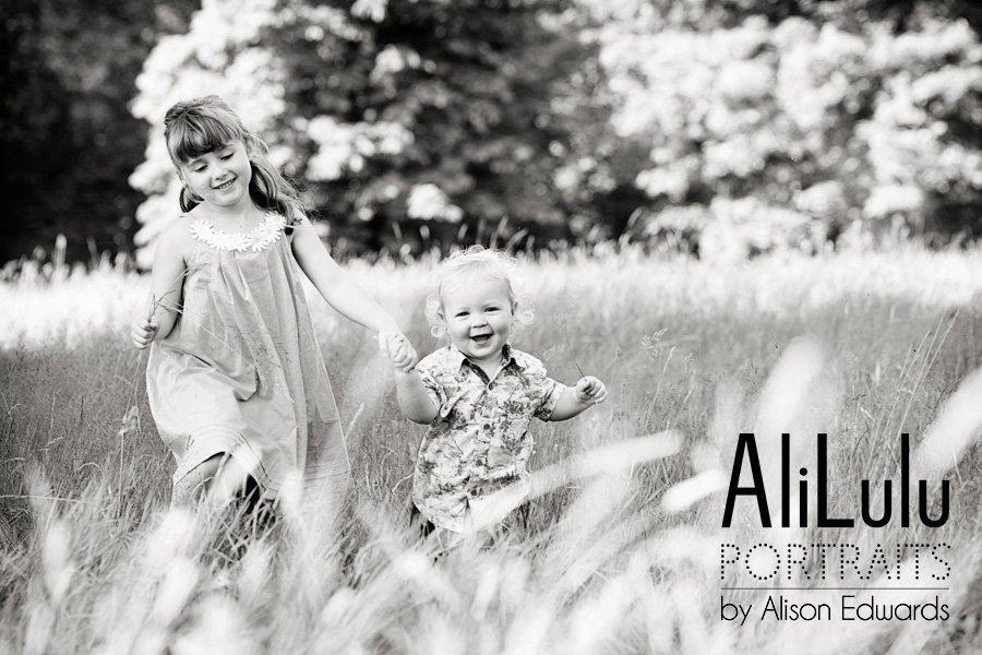 children's photos in fields