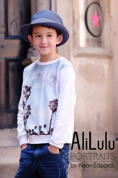 Urban style photo session for kids