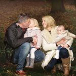 family photography in Nottingham mum dad and young children in woods