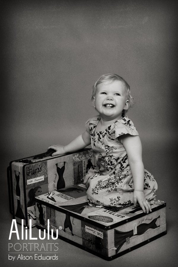 1 year old photo session with 1 year old girl