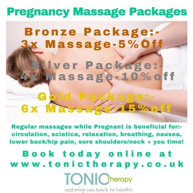 pregnancy massage offer by Tonic Therapy
