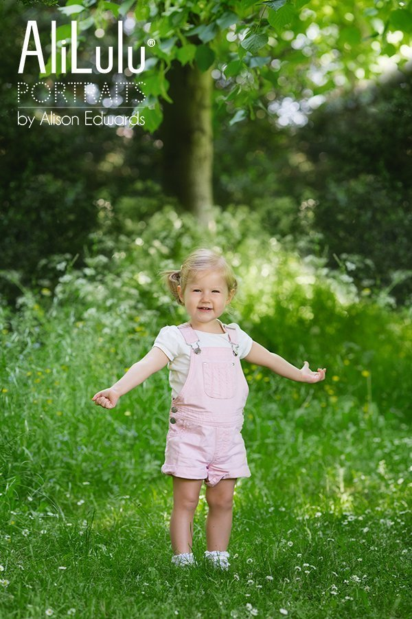 young girl in Belton Woods by portrait photographer Grantham