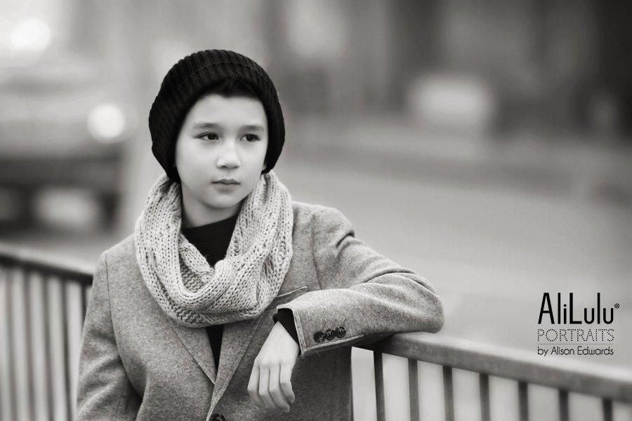 portrait photographer Nottingham cool boy in city urban style portrait
