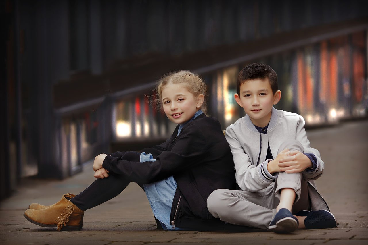 two young friends on BFF photo shoot Nottingham