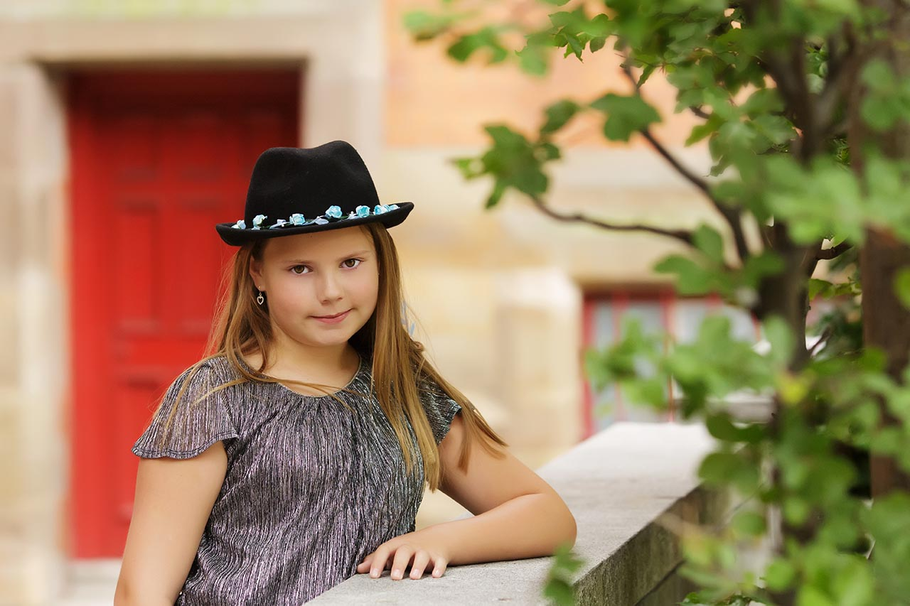 teen girl wearing black hat Nottingham