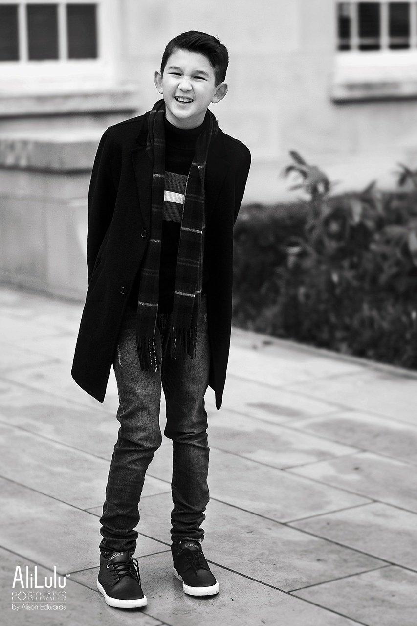 boy laughing on photo shoot nottingham