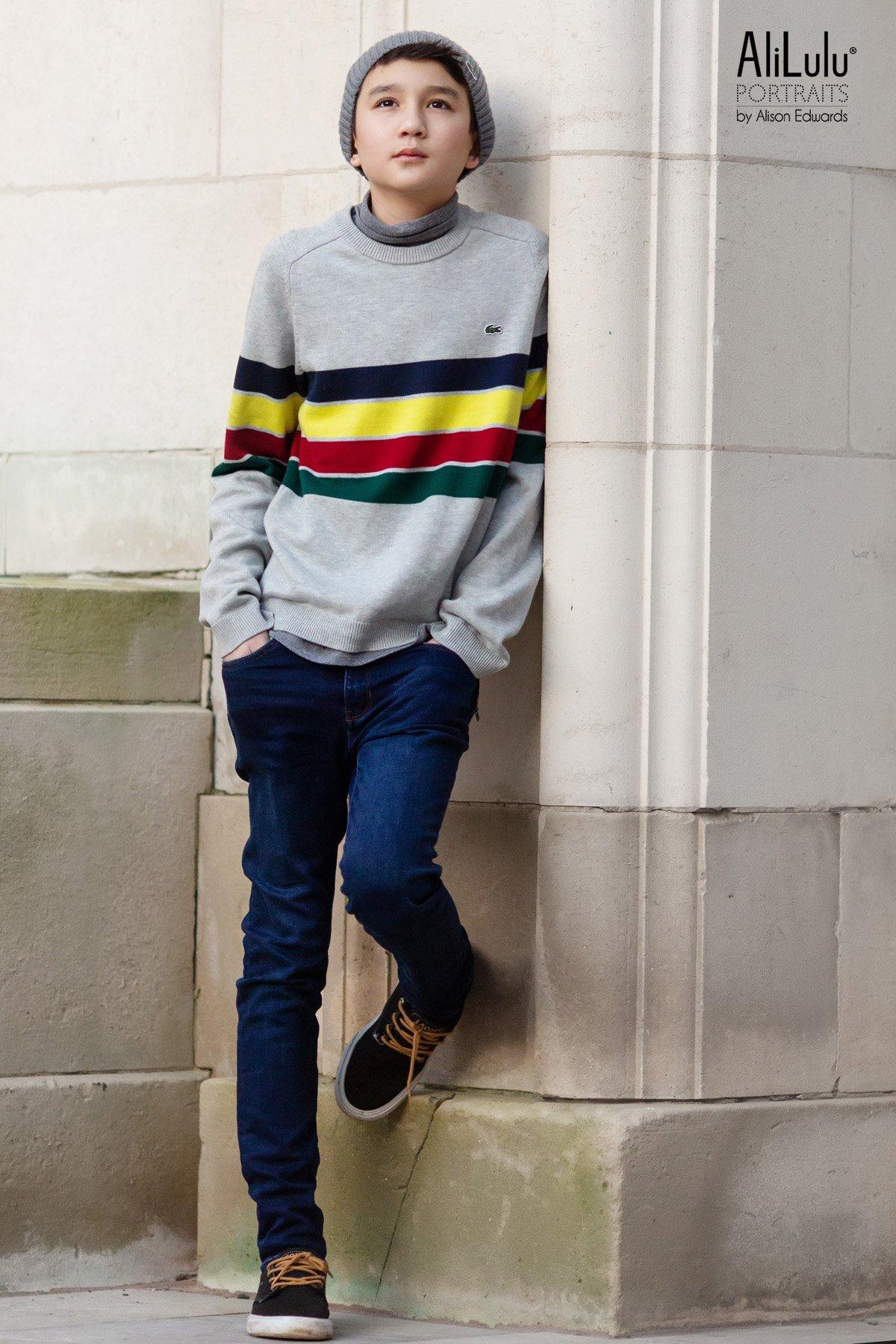 teenage boy Lacoste photo shoot