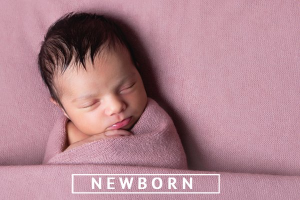 newborn girl in pink newborn photographer nottingham