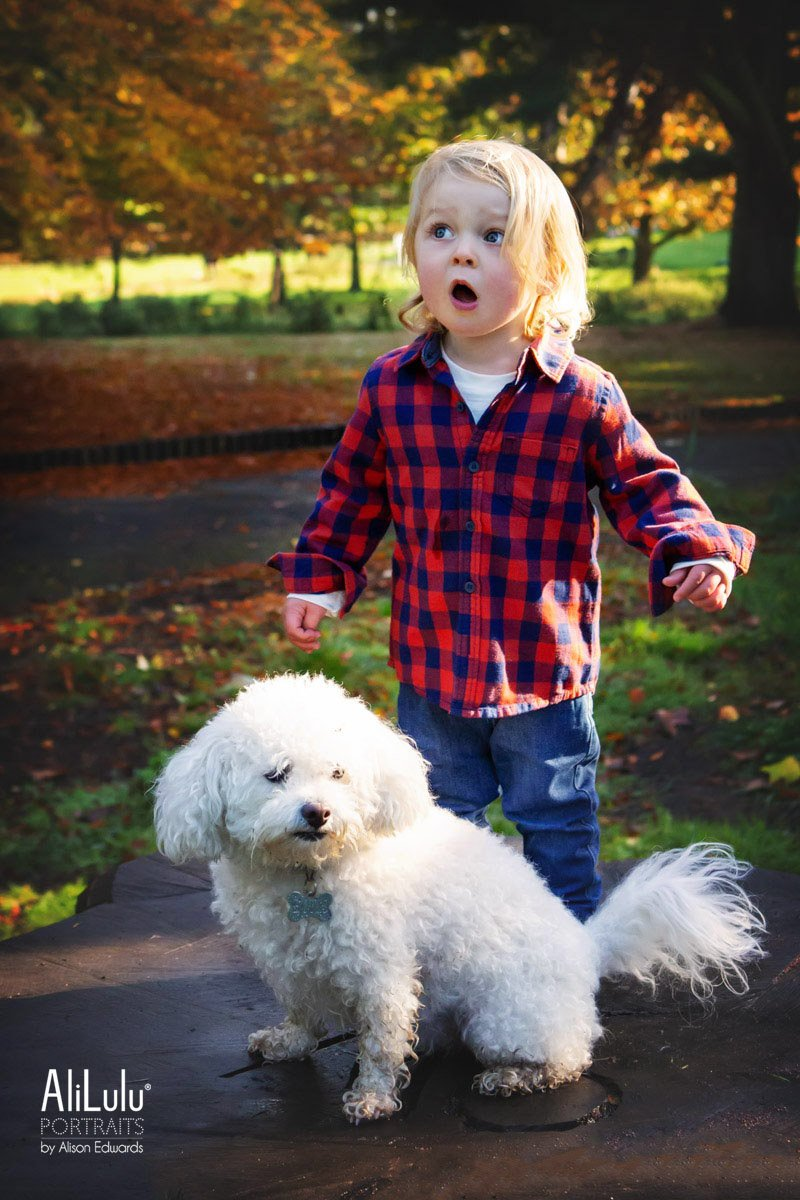 boy and his family dog
