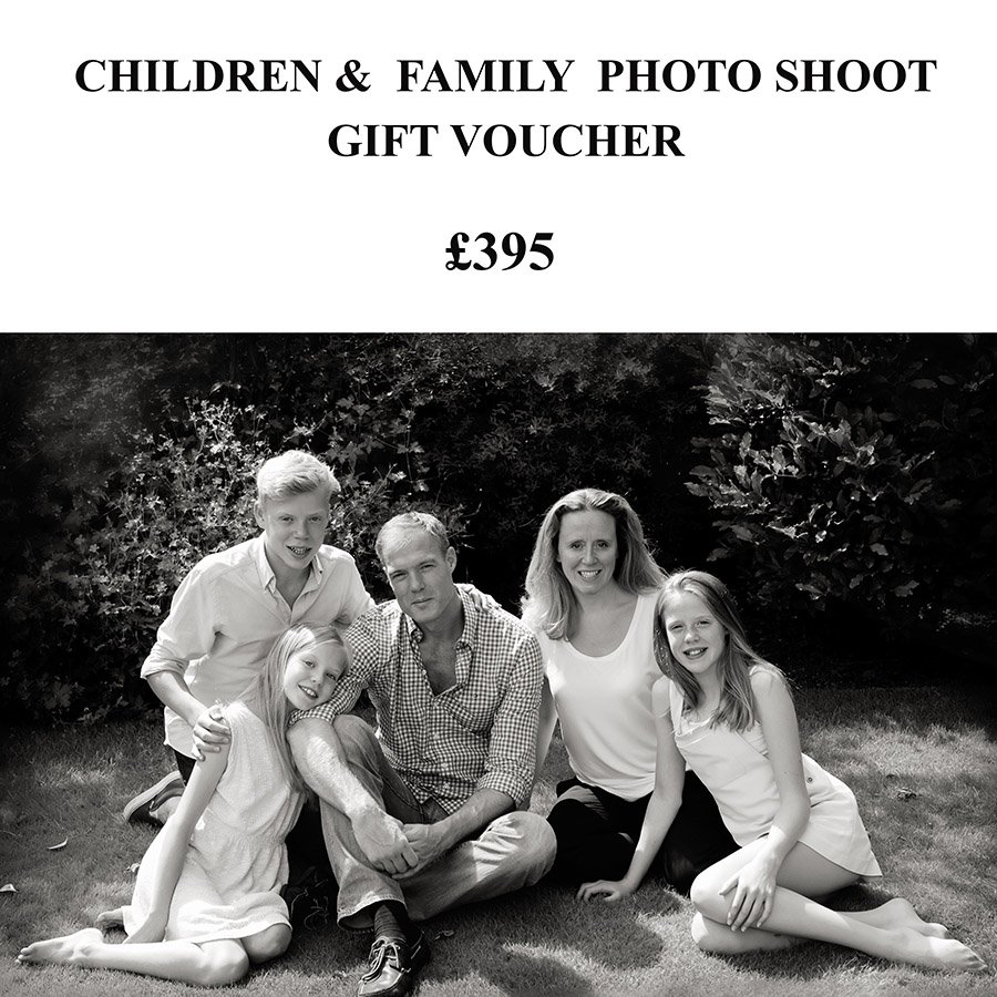 family photo shoot gift voucher