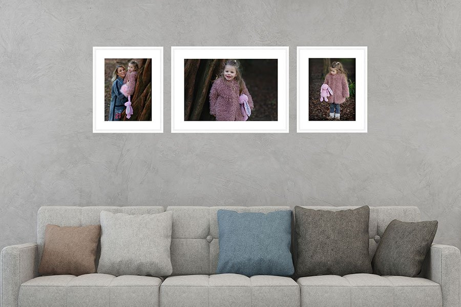 frames layout in room nottingham family photographer