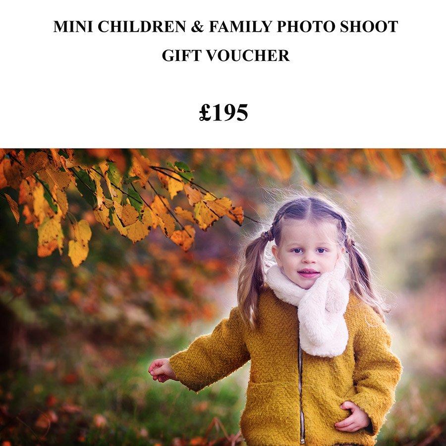 mini photo shoot gift voucher