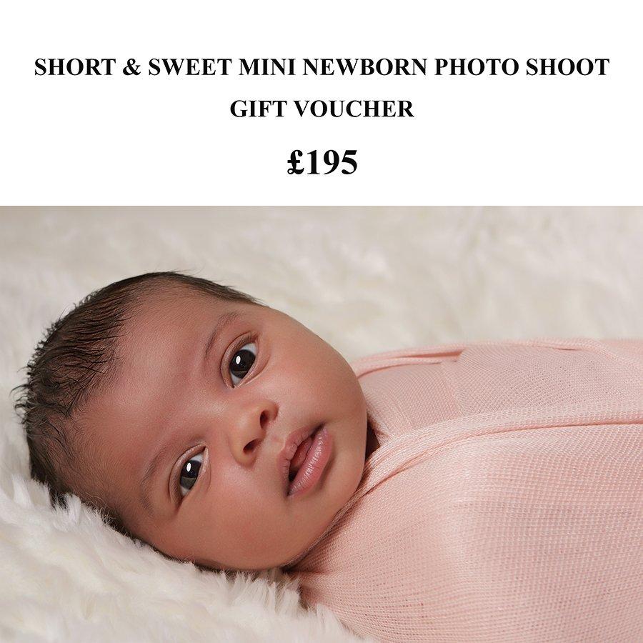 mini newborn photo shoot gift voucher