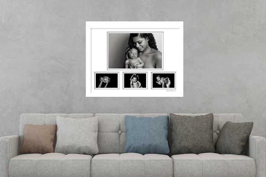newborn frame on wall